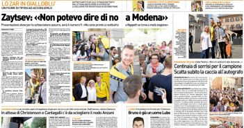 Modena Volley - Resto del Carlino, Zaytsev: