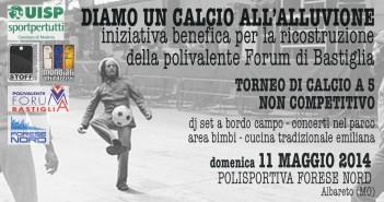 Solidarietà: Calcetto benefico per ricostruire la polivalente forum di bastiglia