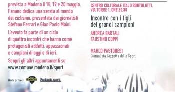 Domani Coppi e Bartali a Fanano per il ciclo Modena Sport in Giro