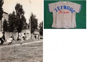 """Il campo alla """"Sacca"""" ed una delle prime casacche."""