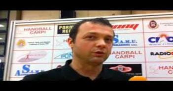 Terraquilia Handball Carpi vs Pallamano Ambra ( diretta Rai Sport 1 otre 19.30), le parole di coach Serafini
