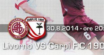 Il Carpi strappa un pareggio a Livorno: è 1-1 al Picchi