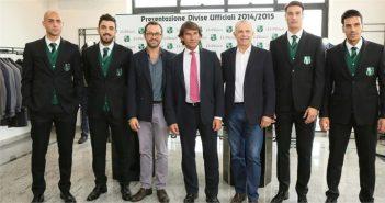 VIDEO- Sassuolo, la squadra alla presentazione delle nuove divise