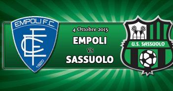 Empoli-Sassuolo, prevendita settore ospiti