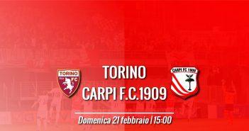 Torino-Carpi, prevendita settore ospiti