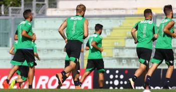 Sassuolo, ripresa degli allenamenti in vista del match di Europa League