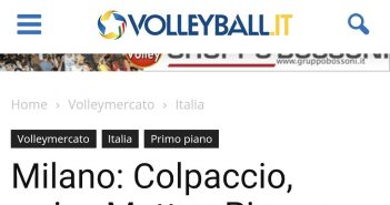 Modena Volley - Volleyball.it: Matteo Piano a Milano
