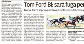 Rassegna Stampa Gazzetta di Modena e Carlino – Ciclismo, Equitazione, Tennis e Volley