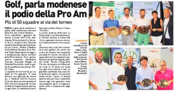 Rassegna Stampa Gazzetta di Modena e Carlino – Golf, Podismo, Tennis e Volley