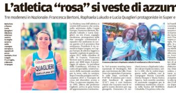 Rassegna Stampa Gazzetta di Modena e Carlino – Atletica, Ciclismo e Tennis