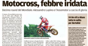 Rassegna Stampa Gazzetta di Modena e Carlino – Beach Volley, Motori, Nuoto e Tennis
