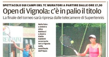 Rassegna Stampa Gazzetta di Modena e Carlino – Baseball, Ciclismo e Tennis