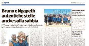 Modena Volley - Gazzetta di Modena: Ngapeth e Bruno stelle anche sulla sabbia