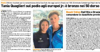 Rassegna Stampa Gazzetta di Modena e Carlino – Nuoto, Tennis e Volley