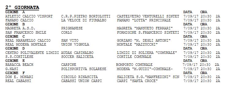 Calendario Terza Categoria.Dilettanti Coppa Terza Categoria Gironi E Calendario