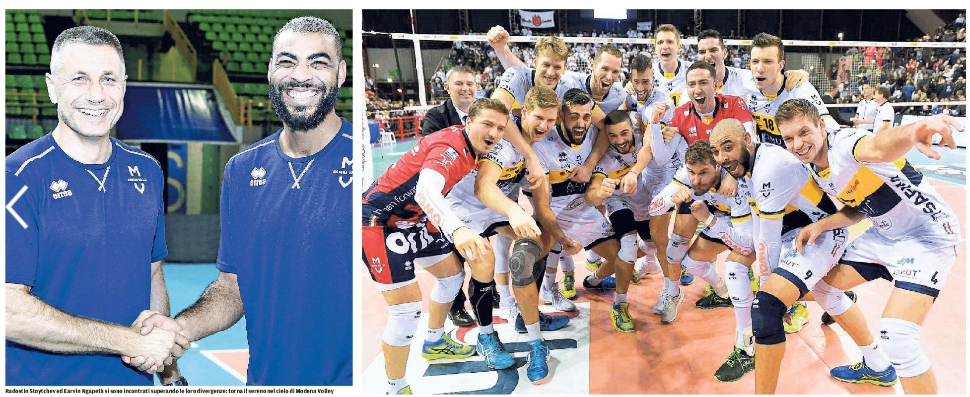 Modena volley gazzetta di modena pace fatta tra ngapeth for Casa modena volley