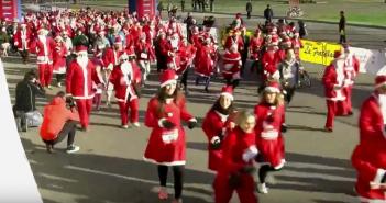 VIDEO - Christmas Run 2017: la corsa dei Babbi Natale