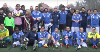 VIDEO - Amichevole, Nazionale Italiana Calcio Amputati-Seleçao Sacerdoti Calcio