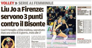 Liu Jo Nordmeccanica - Rassegna Stampa: a Firenze per tre punti e una rivincita