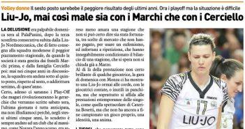 Liu Jo Nordmeccanica - Rassegna Stampa, si chiude la peggior regular season degli ultimi anni