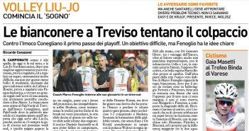 Liu Jo Nordmeccanica - Rassegna Stampa, è il giorno di gara 1 a Treviso
