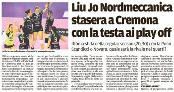Liu Jo Nordmeccanica - Rassegna Stampa, ultimo impegno a Cremona con la testa ai playoff