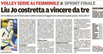 Liu Jo Nordmeccanica - Rassegna Stampa, con Monza servono i tre punti