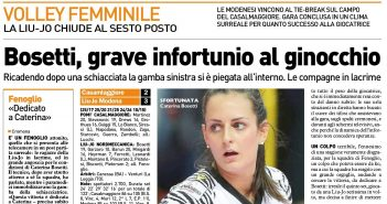 Liu Jo Nordmeccanica - Rassegna Stampa, vittoria 3-2 a Cremona: nei playoff sfida a Conegliano. Brutto infortunio per Bosetti