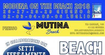 Modena on the Beach 2018: dal 26 giugno al 6 luglio, torneo di Beach Volley