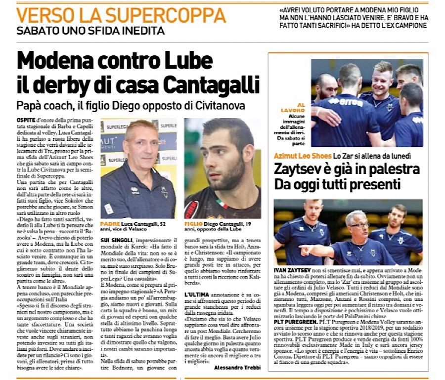 Modena volley resto del carlino modena contro lube il for Casa modena volley