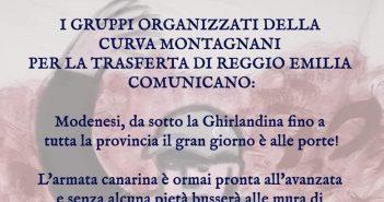 Derby Modena-Regia, il volantino della curva gialloblù che cita la Secchia rapita del Tassoni e si prepara all'esodo
