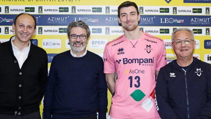 Modena Volley - Presentata la maglia da riscaldamento Bompani per la Champions League