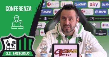 """Sassuolo, mister De Zerbi: """"Sampdoria avversario pericoloso, dobbiamo tornare a fare risultato in trasferta"""""""