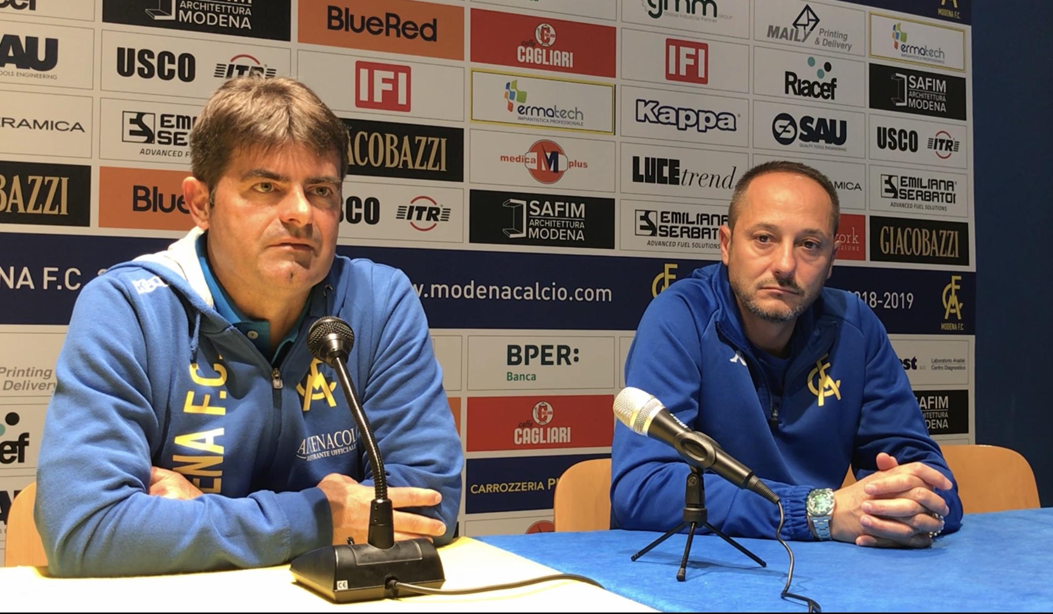 Modena-Reggio Audace 4-1, le parole di mister Malverti e Carmelo Salerno