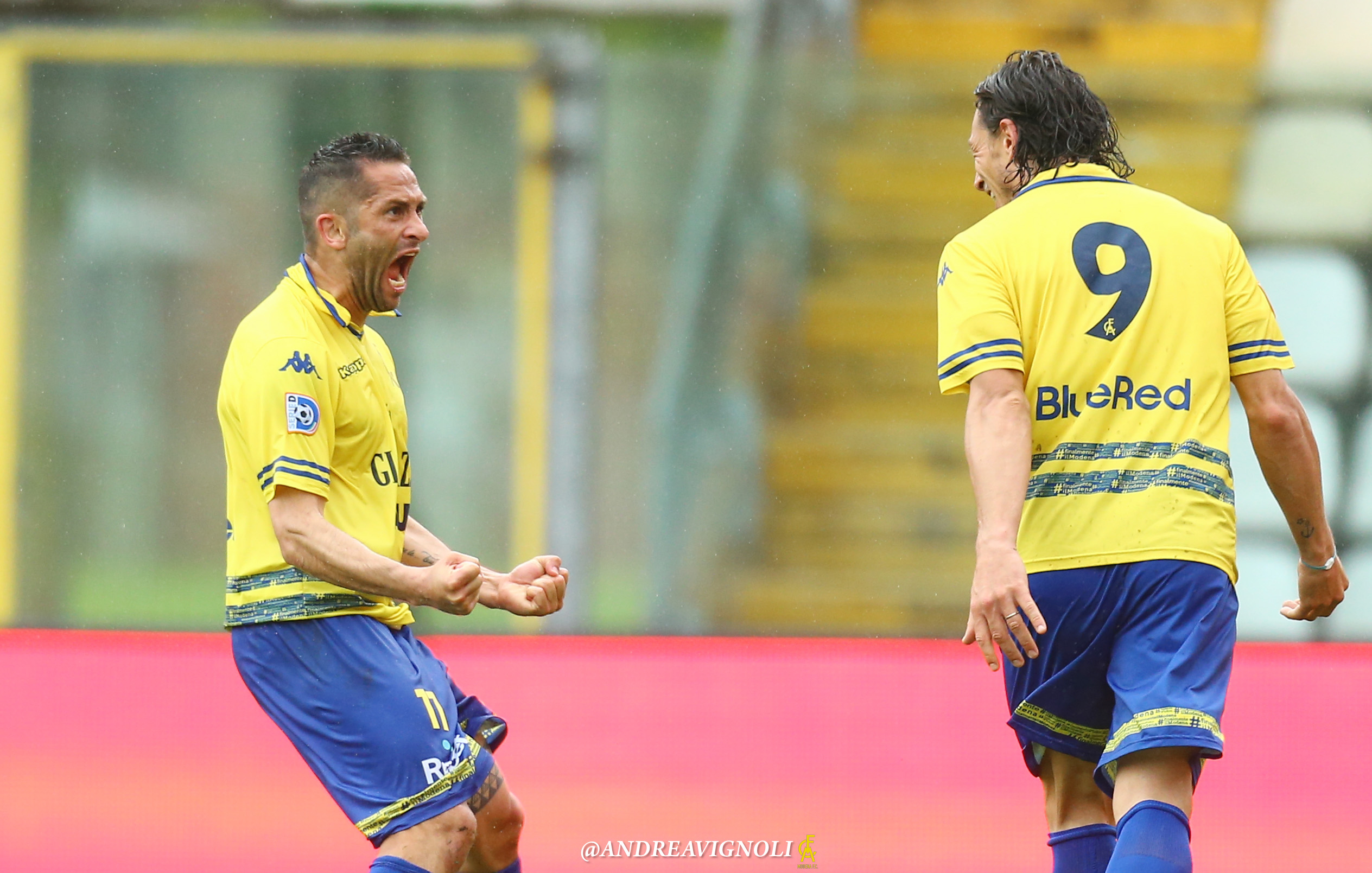 Modena-Fiorenzuola 3-2, il gol di Ferrario e la doppietta di Sansovini