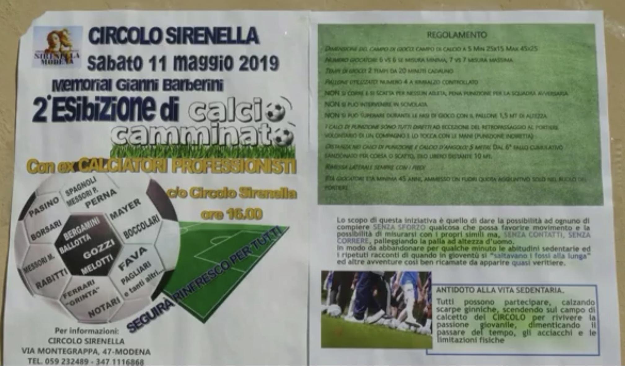 Modena Fc - Calcio camminato in ricordo di Gianni Barberini