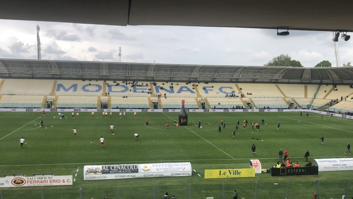 Modena-Fiorenzuola, il prepartita dallo Stadio Braglia