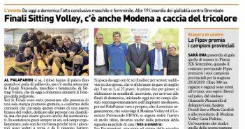 Modena Volley - Resto del Carlino: finali sitting volley, c'è anche Modena a caccia del Tricolore