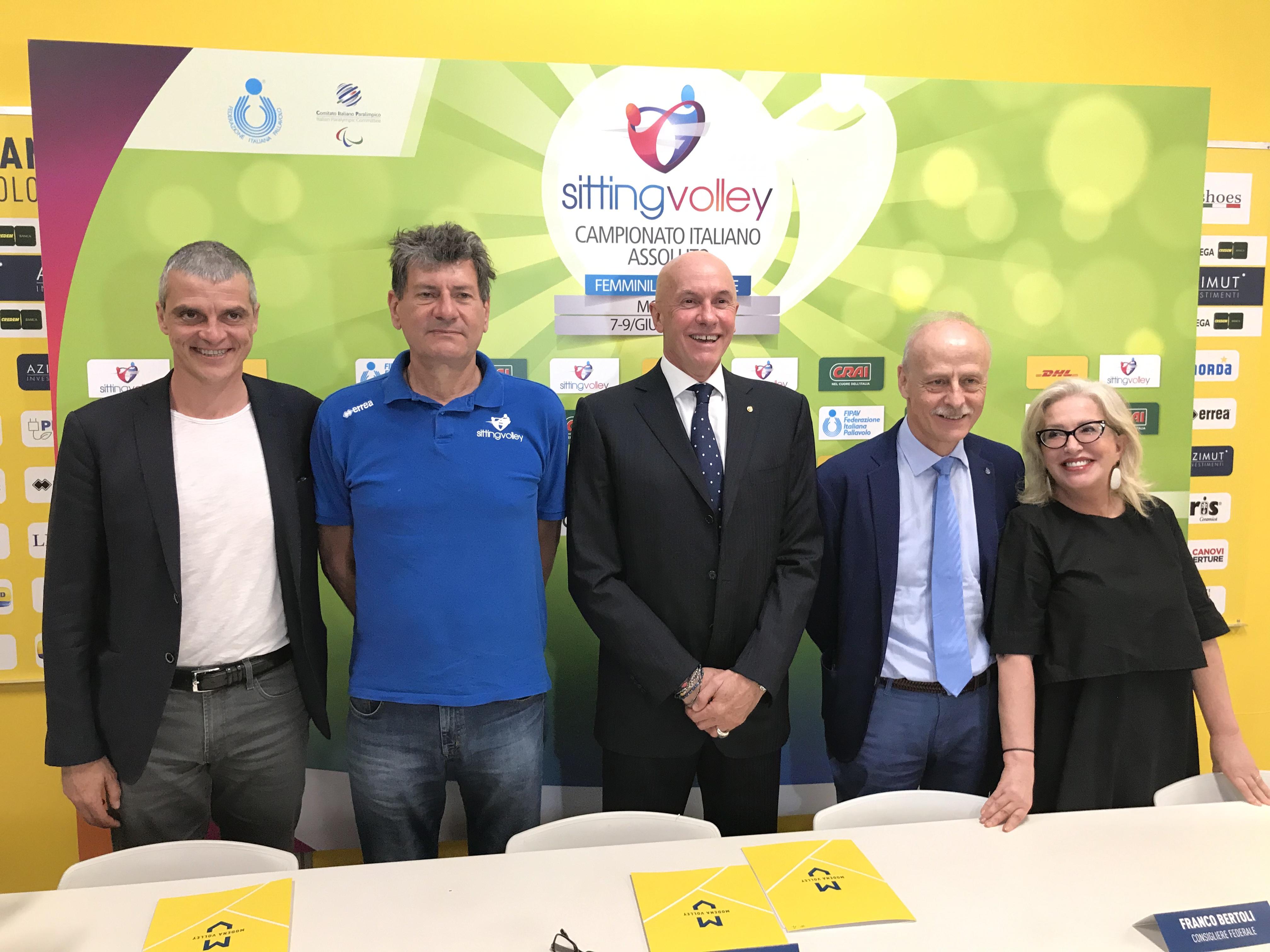 Sitting Volley al PalaPanini, conferenza stampa con Franco Bertoli e Amauri Ribeiro