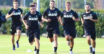 Sassuolo, raduno e prima seduta di allenamento al Mapei Football Center