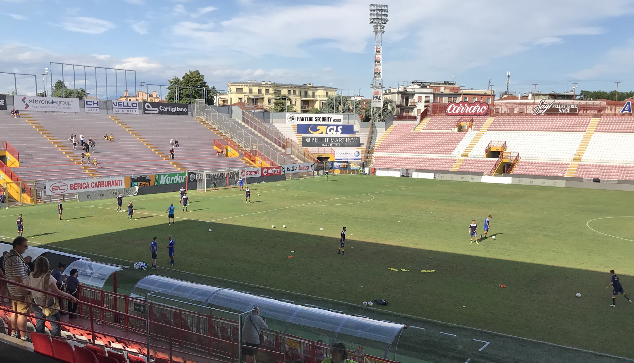 Arzignano-Modena, prepartita e ingresso in campo delle due squadre