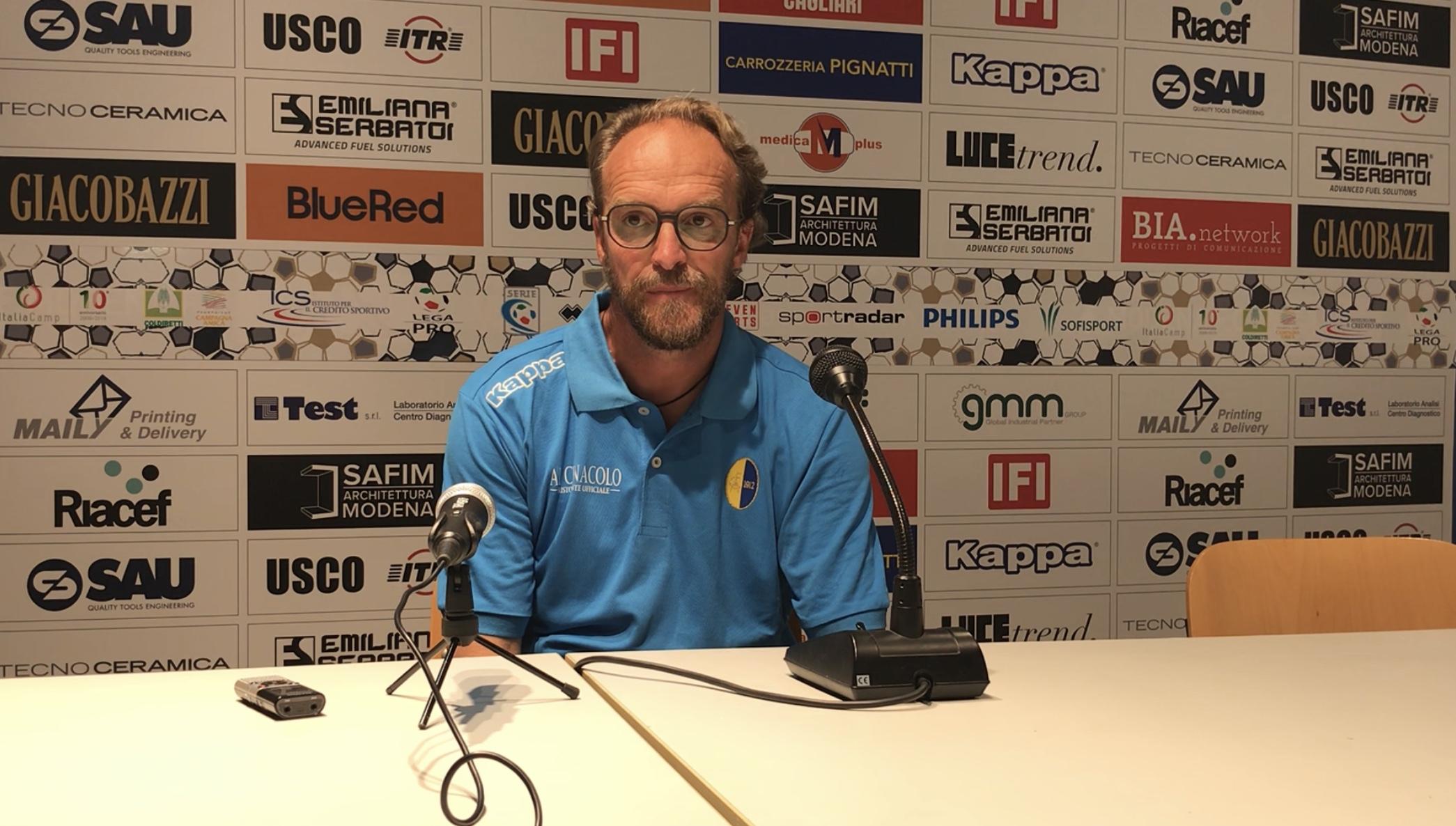 Modena-Virtus Verona 1-0, le dichiarazioni di mister Zironelli
