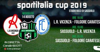 Rassegna Stampa Sassuolo - Neroverdi in campo per la Sportitalia Cup: Vicenza e Caratese le avversarie stasera al Ricci