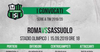 Serie A, Roma-Sassuolo: convocati e probabili formazioni