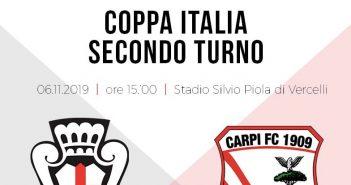 LIVE - Coppa Italia: Pro Vercelli-Carpi 1-0, decide Varas: biancorossi eliminati dalla competizione