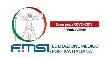 Emergenza Coronavirus, le raccomandazioni della Federazione Medico Sportiva Italiana
