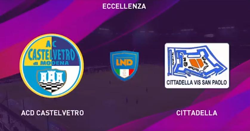 Dilettanti - Virtual Eccellenza: Castelvetro-Cittadella 0-0