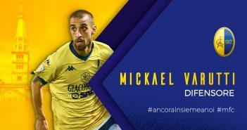 UFFICIALE - Modena Fc, rinnovo del contratto per Mickael Varutti