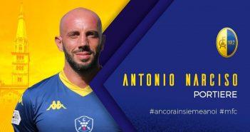 UFFICIALE - Modena Fc, rinnovo del contratto per Antonio Narciso