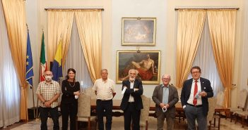 Atletica, il presidente Fidal, Alfio Giomi, al campo della Fratellanza per la